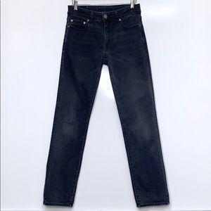 AMERICAN EAGLE Black Faded Original Straight Jeans
